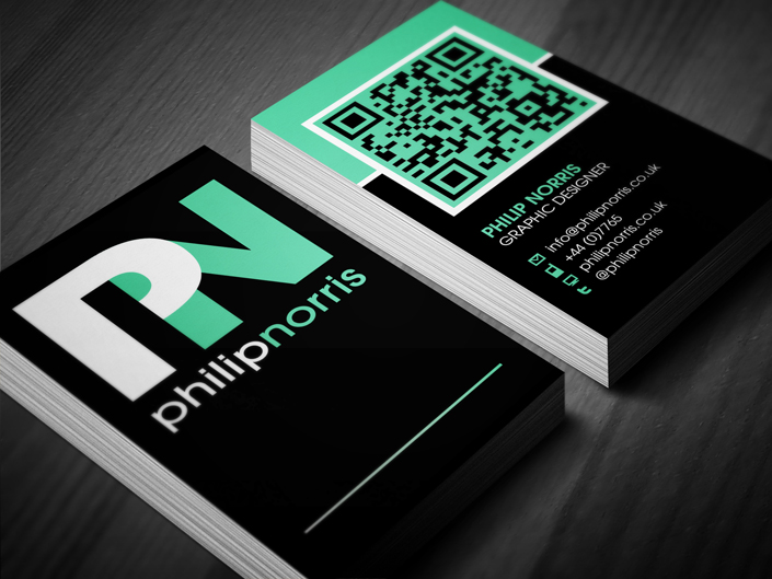 Philip Norris Business Card with QR Code