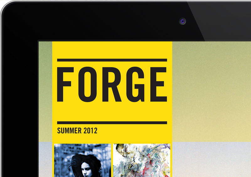 Forge Arts and Culture iPad Magazine