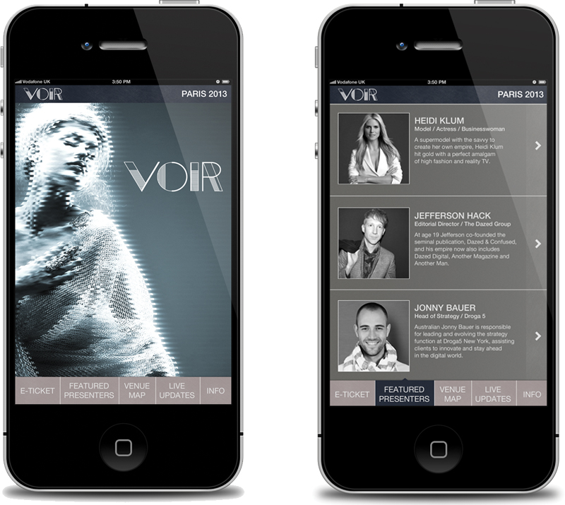 Voir Fashion Symposium iPhone App | Philip Norris